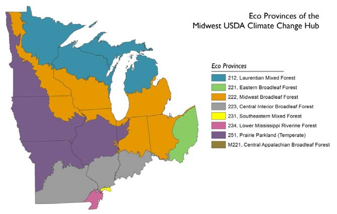 USDA Midwest and Northern Forests Regional Climate Hub: Assessment ...